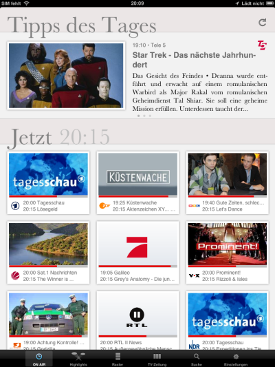ON AIR App iPad Tipps des Tages